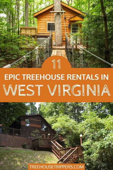 Treehouse Rentals in West Virginia