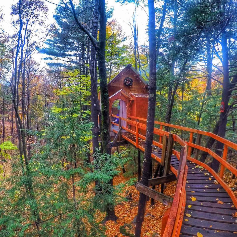 Treetop Sanctuary - New Hampshire Treehouse Rental
