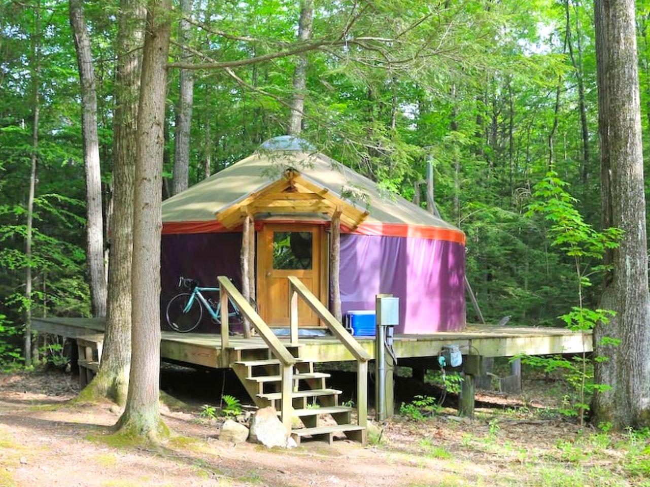 Glamping Yurt Massachusetts