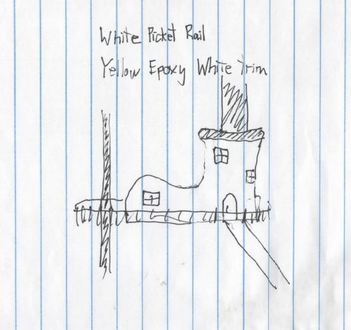 Original Shoe Treehouse Sketch for design ideas at Treehouse World