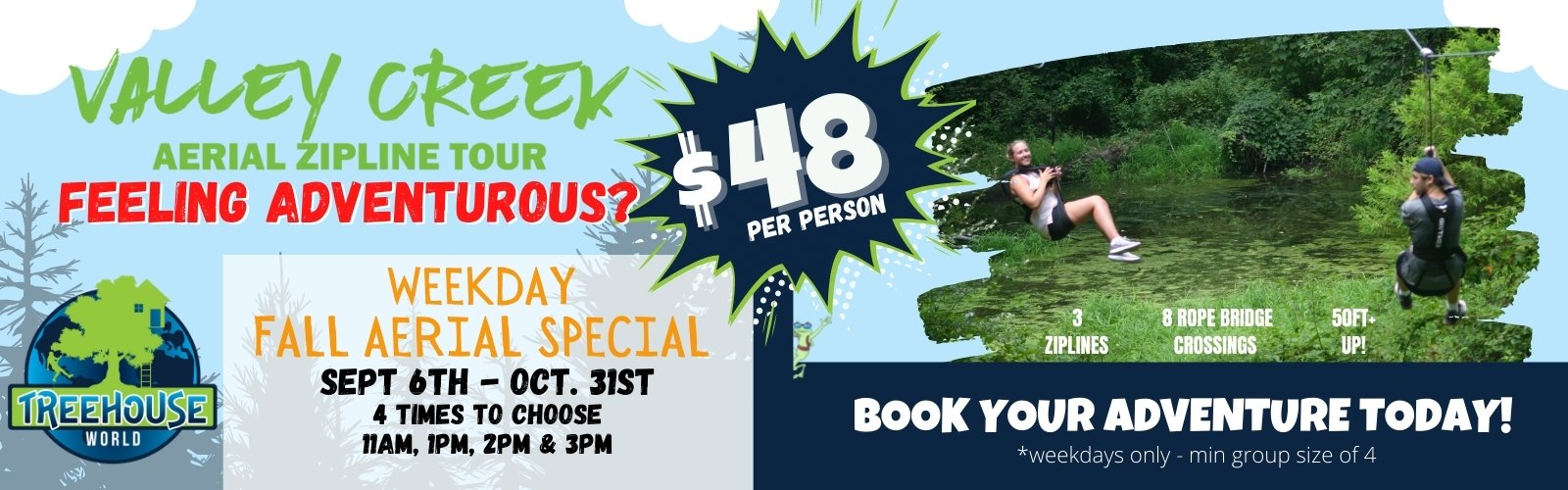 Valley Creek Aerial Adventure Tour Fall Special Hero