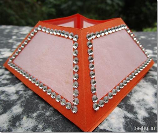 Diwali Craft Pyramid Paper Lantern Template