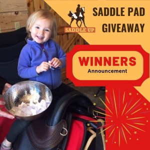 Saddle Pad Giveaway - WINNERS