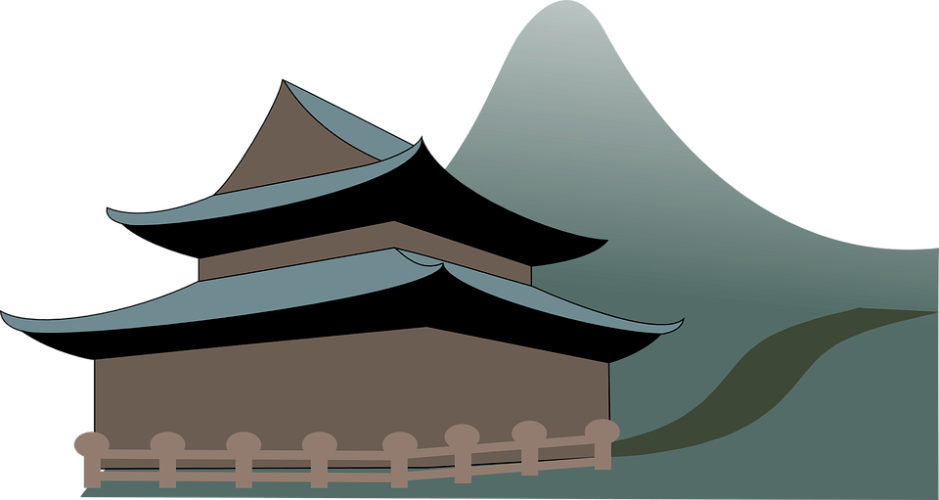 abstract temple pagoda