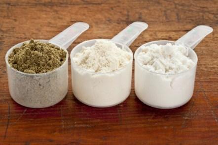 Compléments alimentaires poudre sportif végétarien vegan musculation