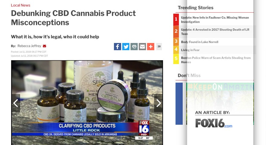 FOX16 Article - Debunking CBD Cannabis Product Misconceptions - ArticlePic