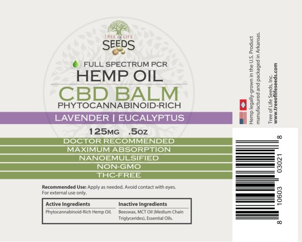 Lavender Balm Larger Stick Size Label .5 oz CBD Oil