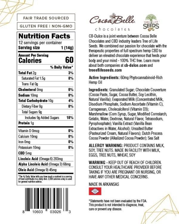 Dark Chocolate Fudge Bites CBD Oil