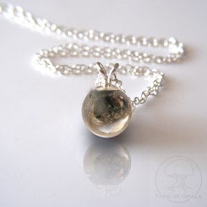 cremation ash pearl necklace bead