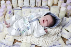 Nothing but the Bast for baby - Bastian surrounded by donated breastmilk