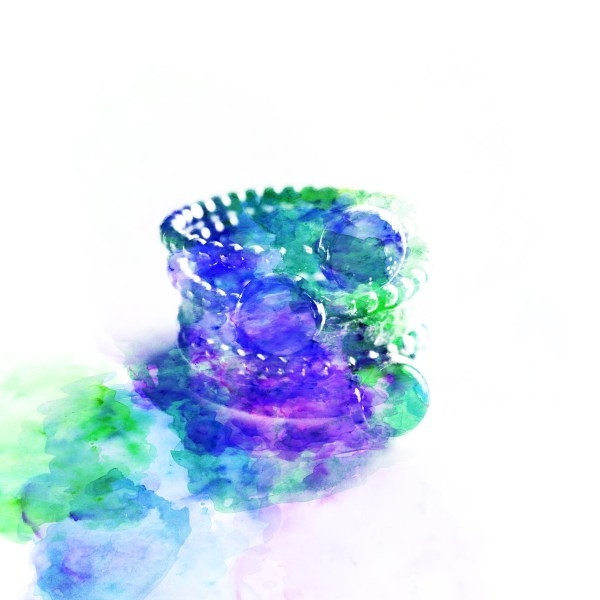 stacking rings watercolour image Tree of Opals