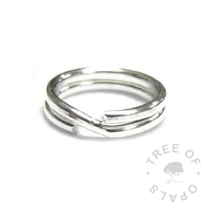 split ring for pearls to make them compatible with Links of London style bracelets