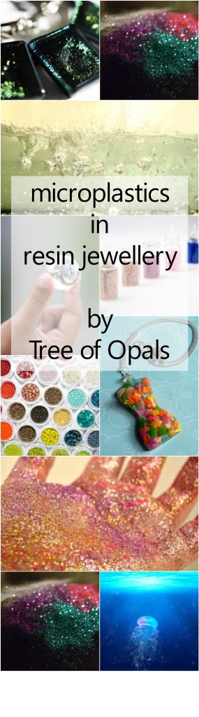 Microplastics in resin jewellery - how glitter affects the industry and environment and what you can do to cut down