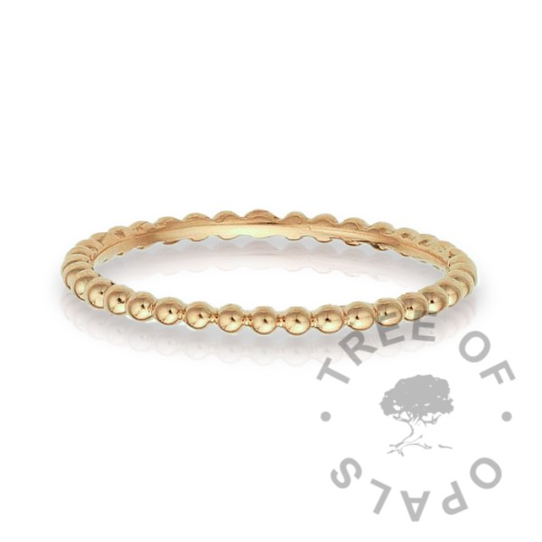 slim 14ct gold ring bubble wire band in solid yellow gold