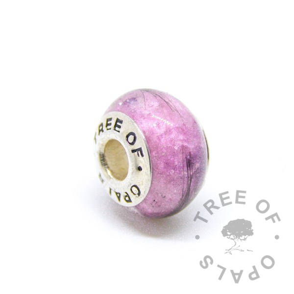 fairy pink lock of hair charm for Pandora bracelets by Tree of Opals