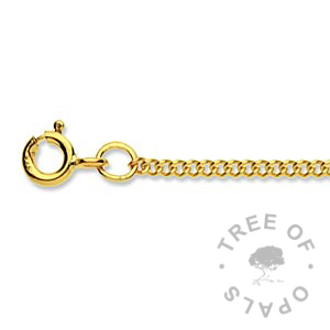 medium 9ct gold chain Tree of Opals