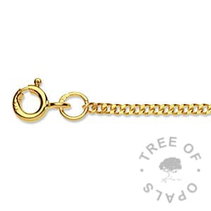 gold chains medium-heavy curb chain yellow gold Tree of Opals