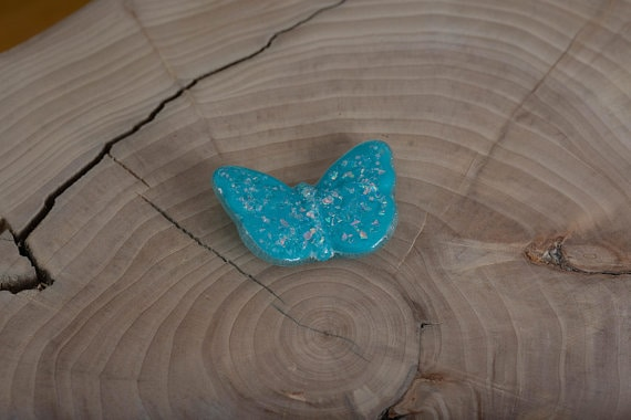 glass cremation ash butterfly
