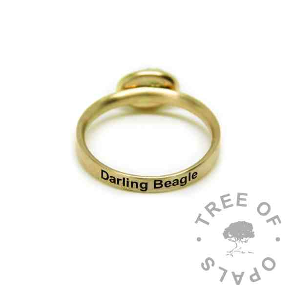 gold engraved ring 14ct solid gold, hallmarked