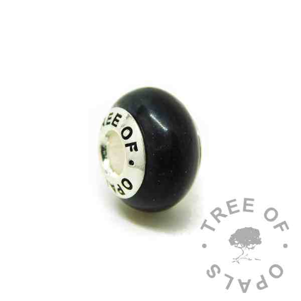 vampire black lock of hair charm bead, for Chamilia and Pandora bracelets