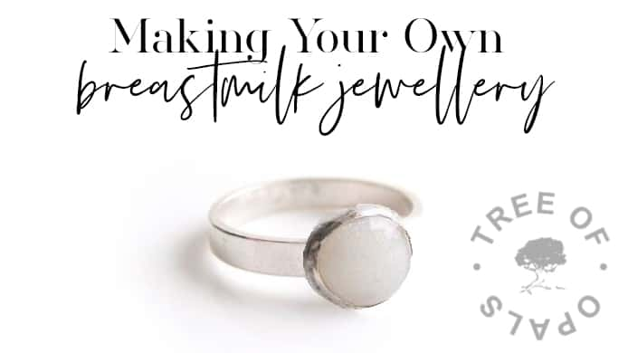Making Your Own Breastmilk Jewellery. Breastmilk ring on brushed band with 8mm setting from Keepsaker Supplies