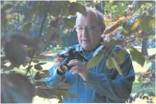 Dan Weinbach working on photos for Trees4Seasons