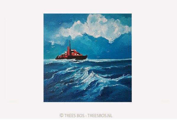 Vrachtschip op weg