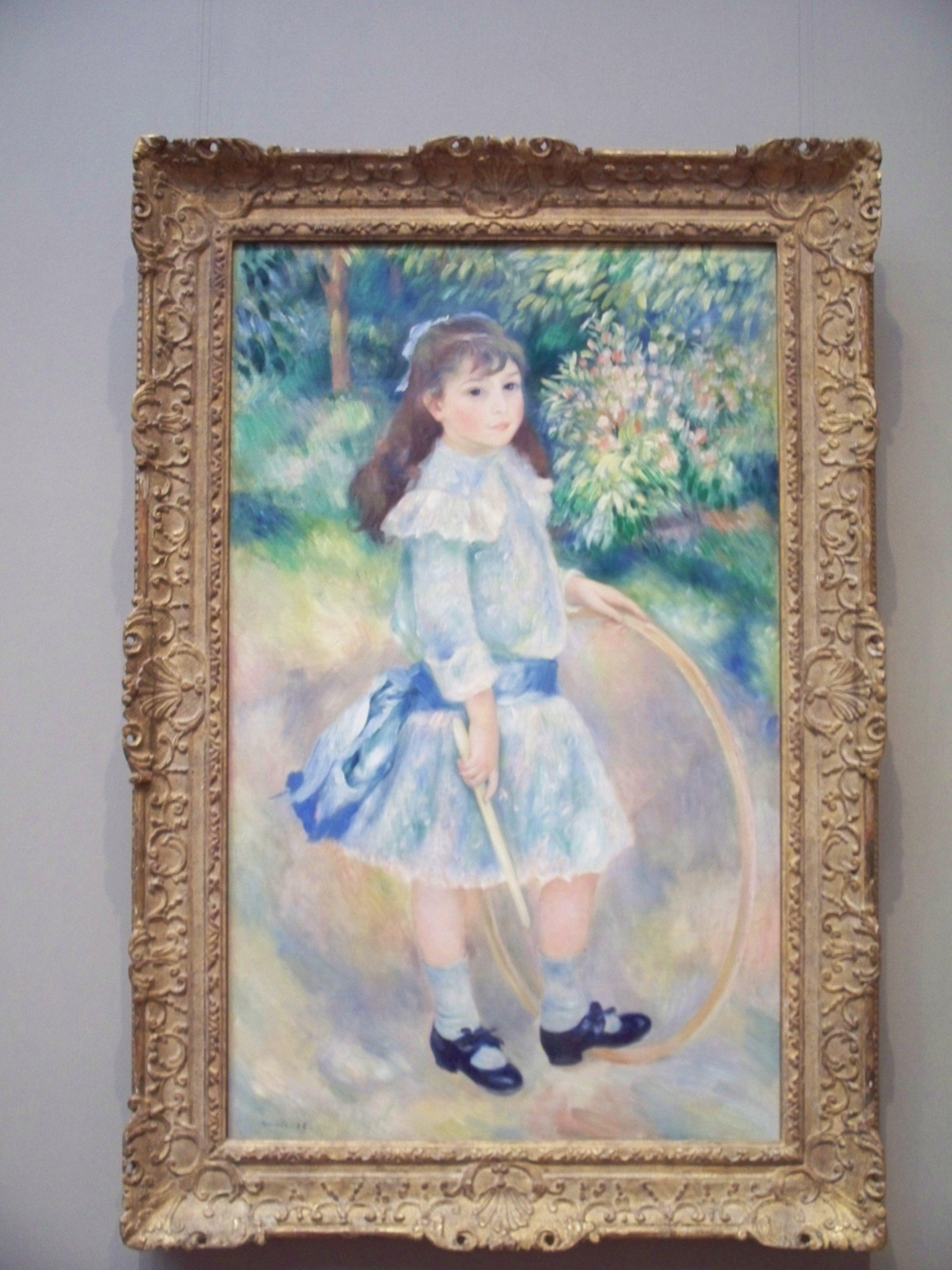 Girl with a Hoop, Auguste Renoir