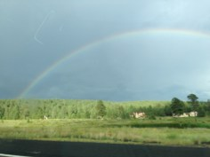 Rainbow over Flagstaff