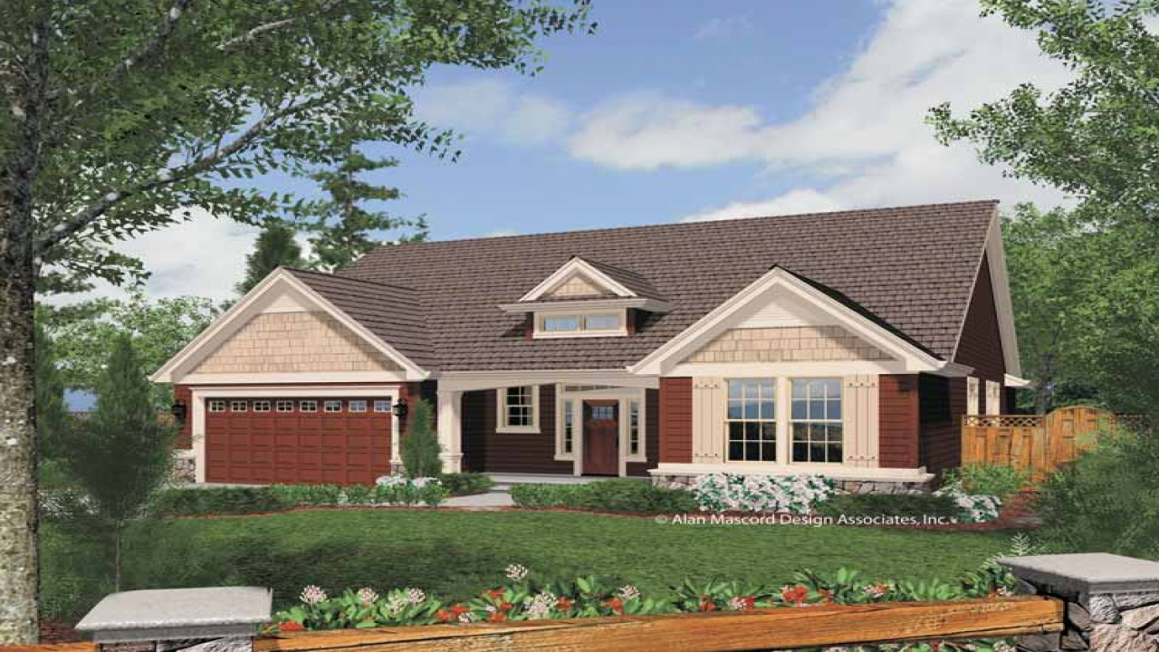 One Story Craftsman Style Exterior One Story Craftsman