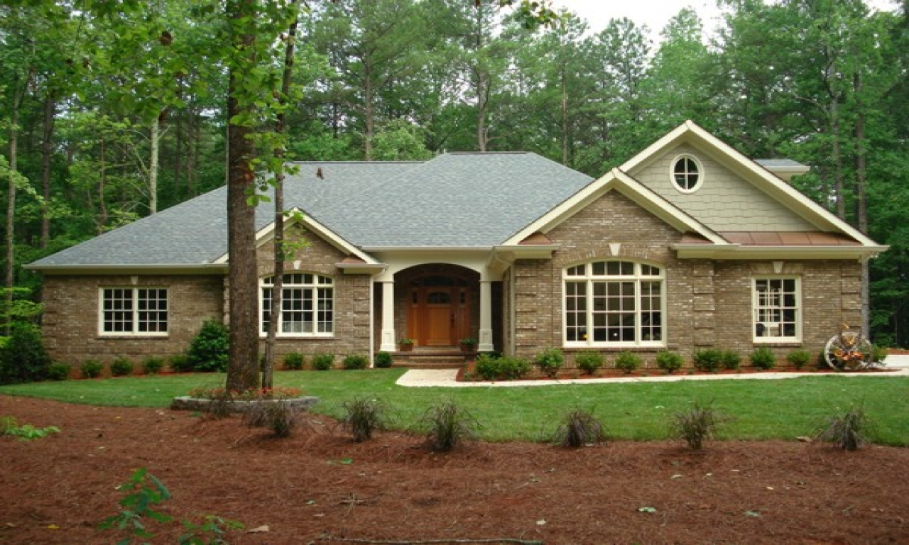 Brick Home Ranch Style House Plans Traditional Ranch Style