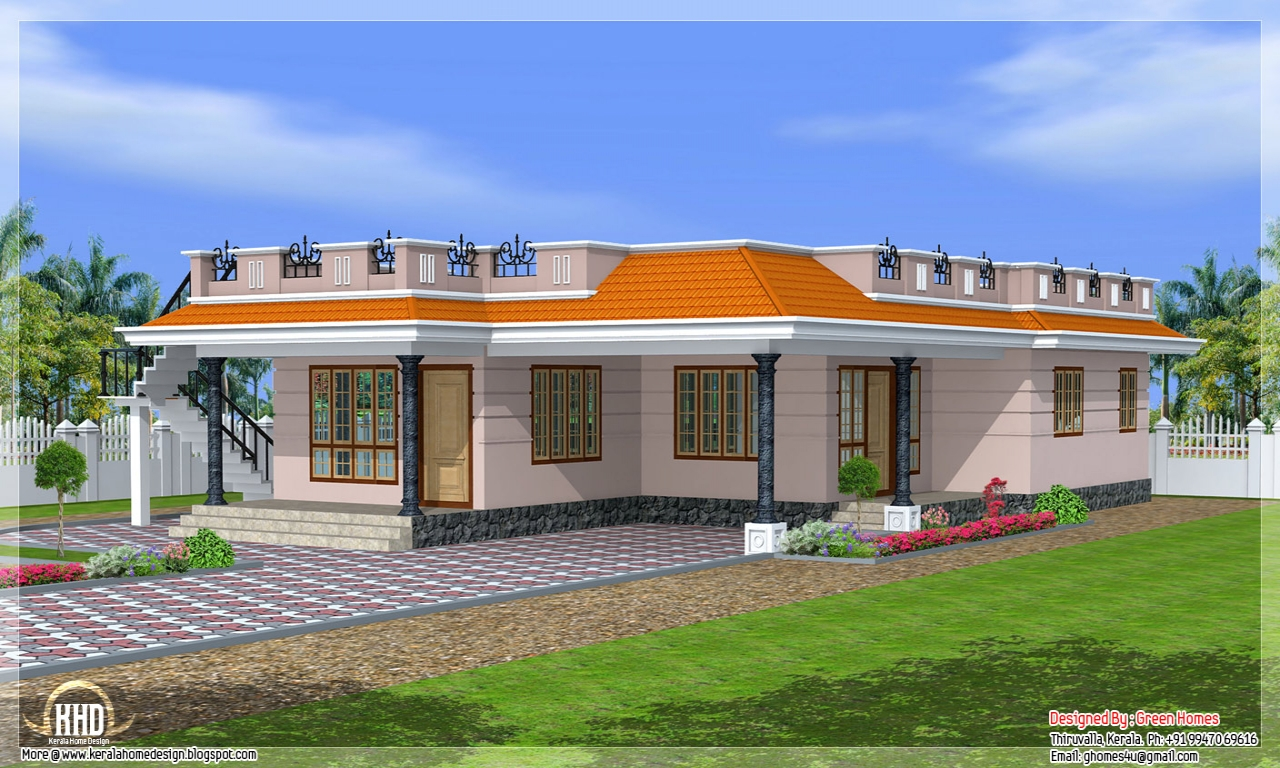 Single Story Exterior House Designs One Story House
