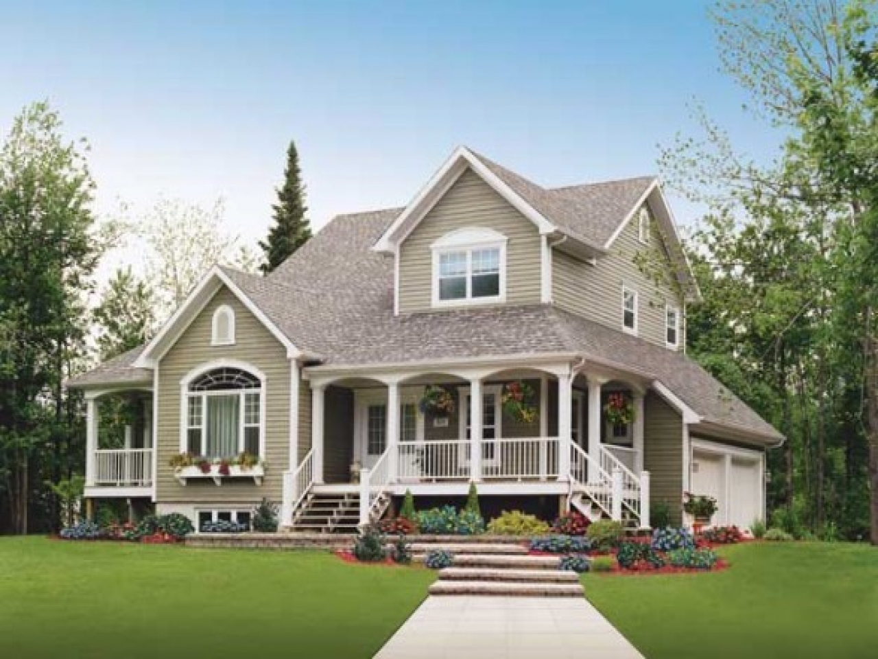 Country House Plans With Open Floor Plan Country House