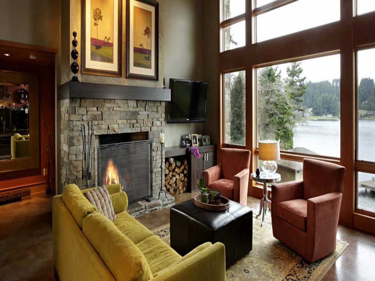 Lake House Traditional Interior Design Interior Lake House