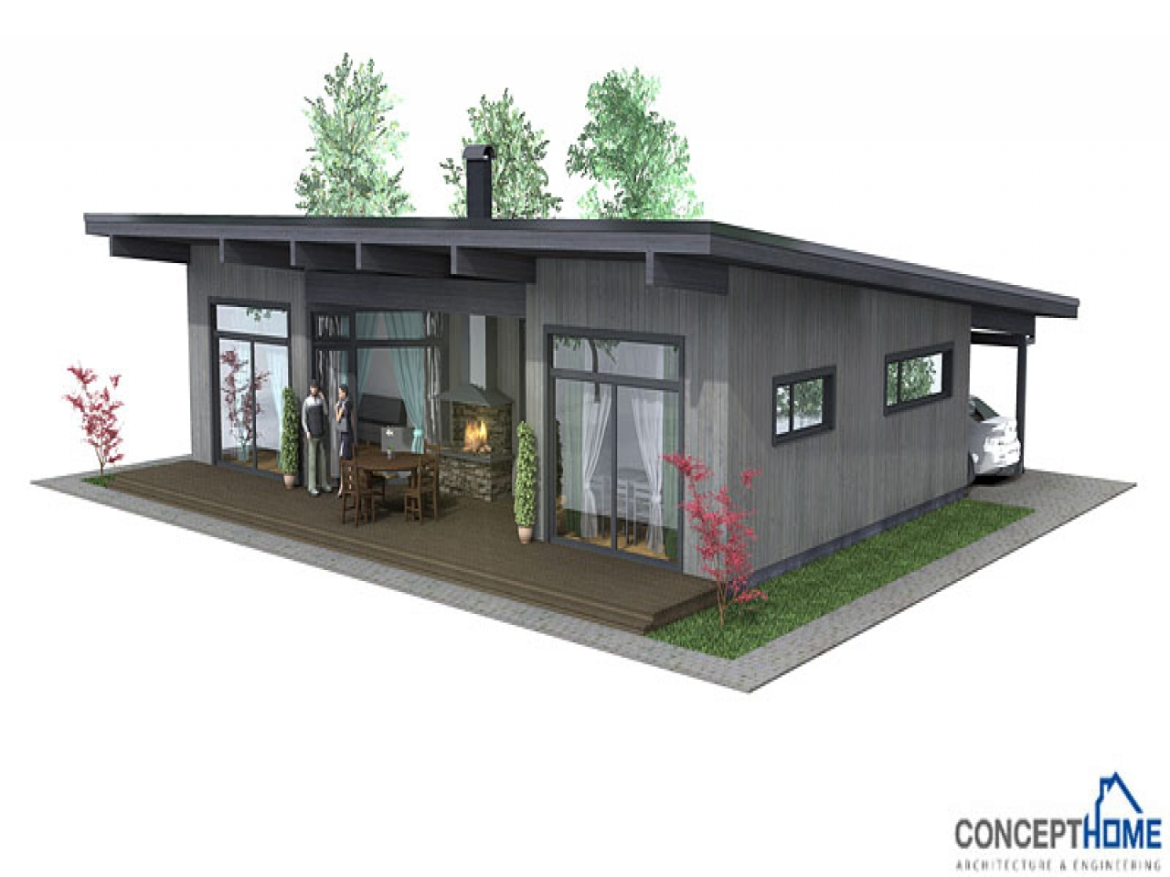 Very Simple Small House Affordable Small Modern House Plan