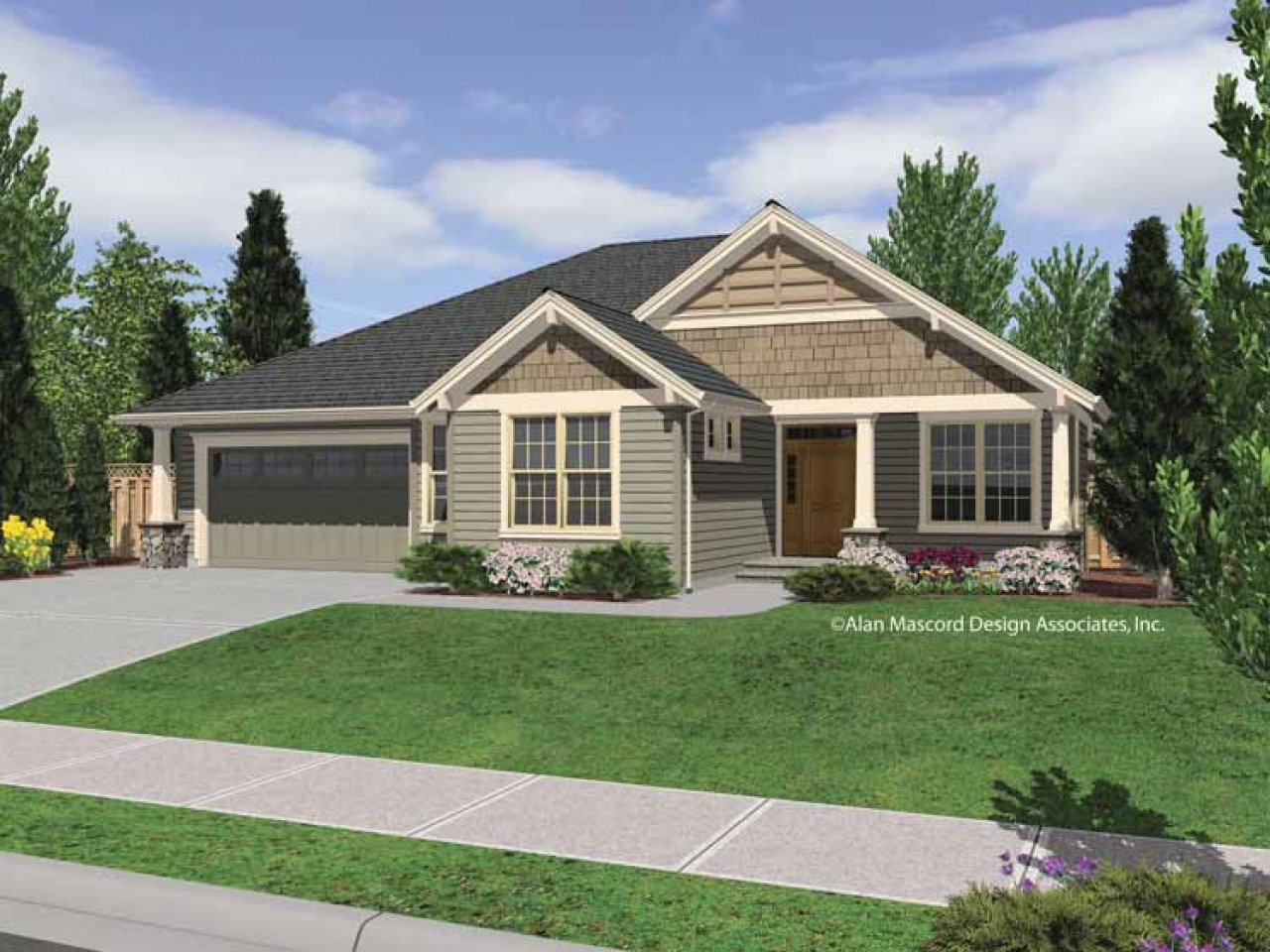 Small House Plans Craftsman Bungalow Single Story