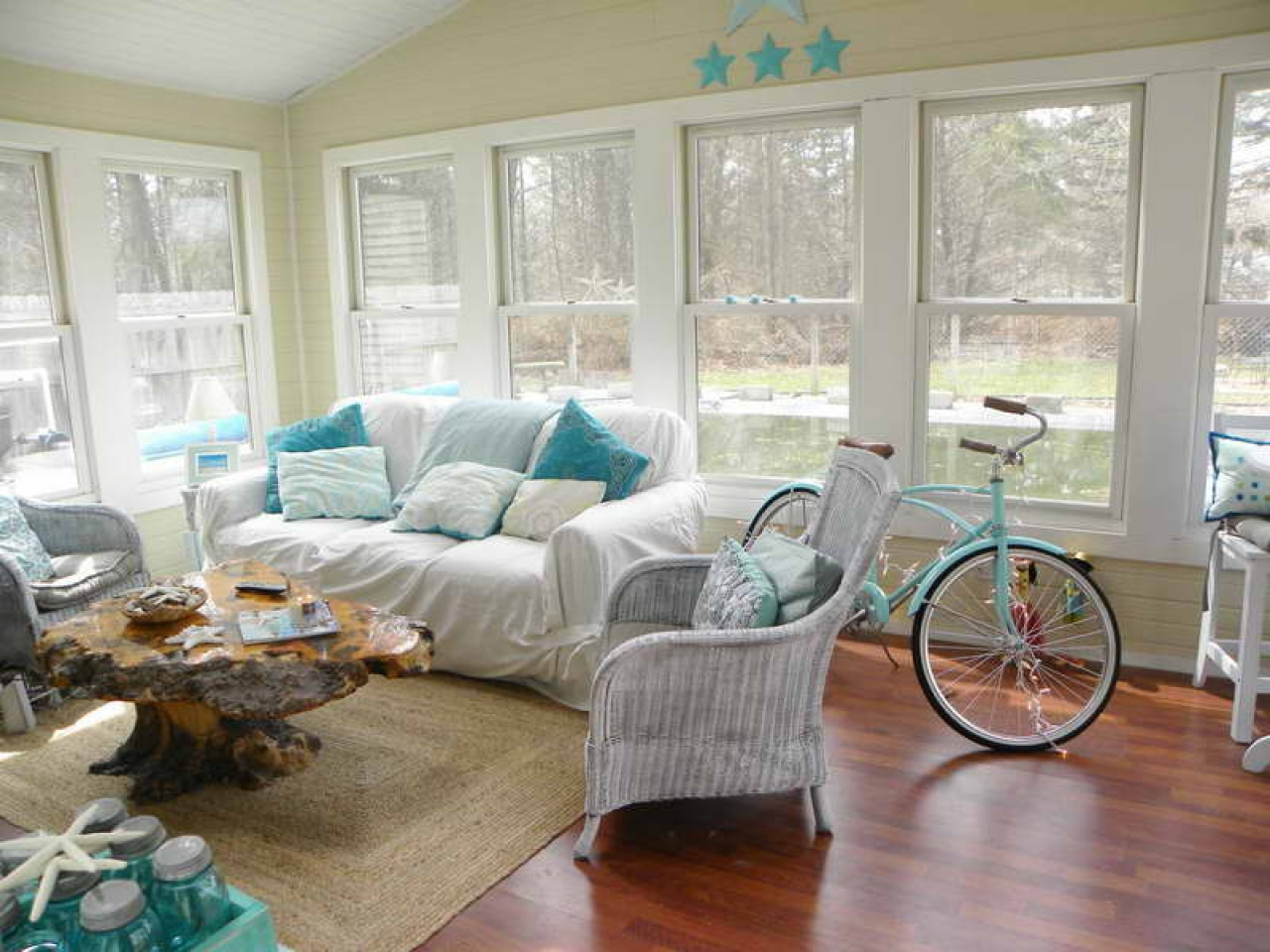 Country Cottage Style Living Rooms Beach Cottage Living