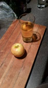 The finished product - a glass of cider