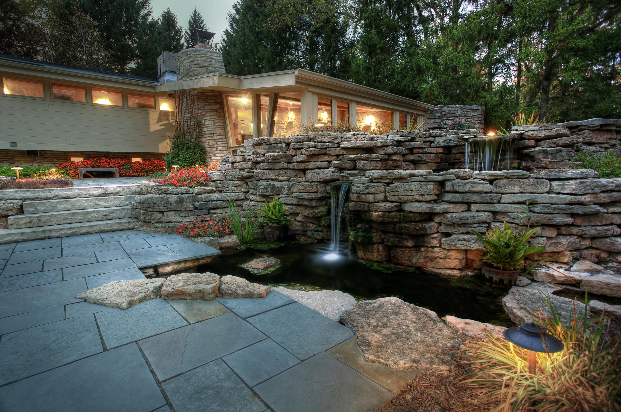 Koi Pond Fountain Ideas
