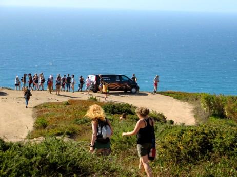The ledge before the big drop off to Praia de Ursa