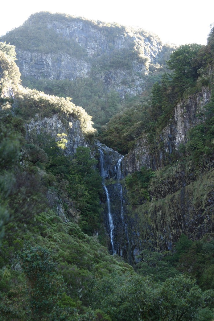 highland waterfall leading into a lavagem or canal