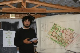 Ale presenting on his suburban project in Milan