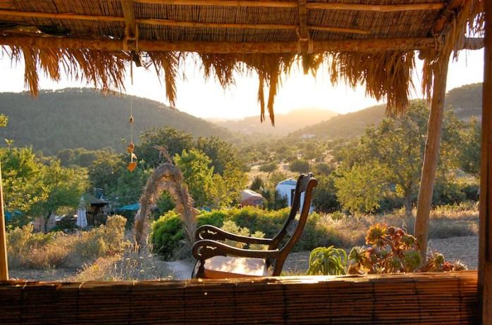 Casita Verde view, our wonderful host site