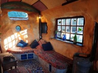 Casita Verde inside a natural building