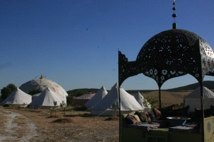 the tents and chill-out