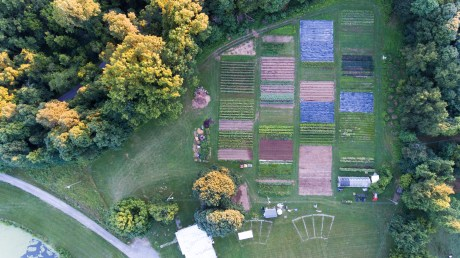 Dark Wood Farm Aerial, local foods production from Annie Woods, Treasure Lake, KY