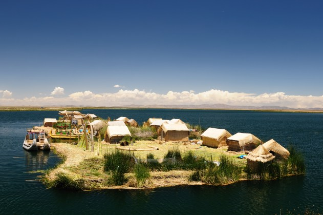 Floating island of Lake Titicaca