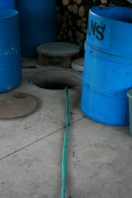 hose leading to bar cistern