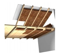 cork insulation panels in roof schematic