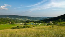 Slovakian landscape mosaic of forest and field